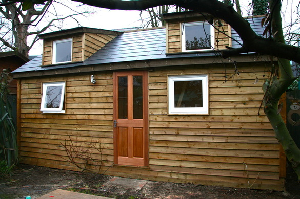 Large timber garden room