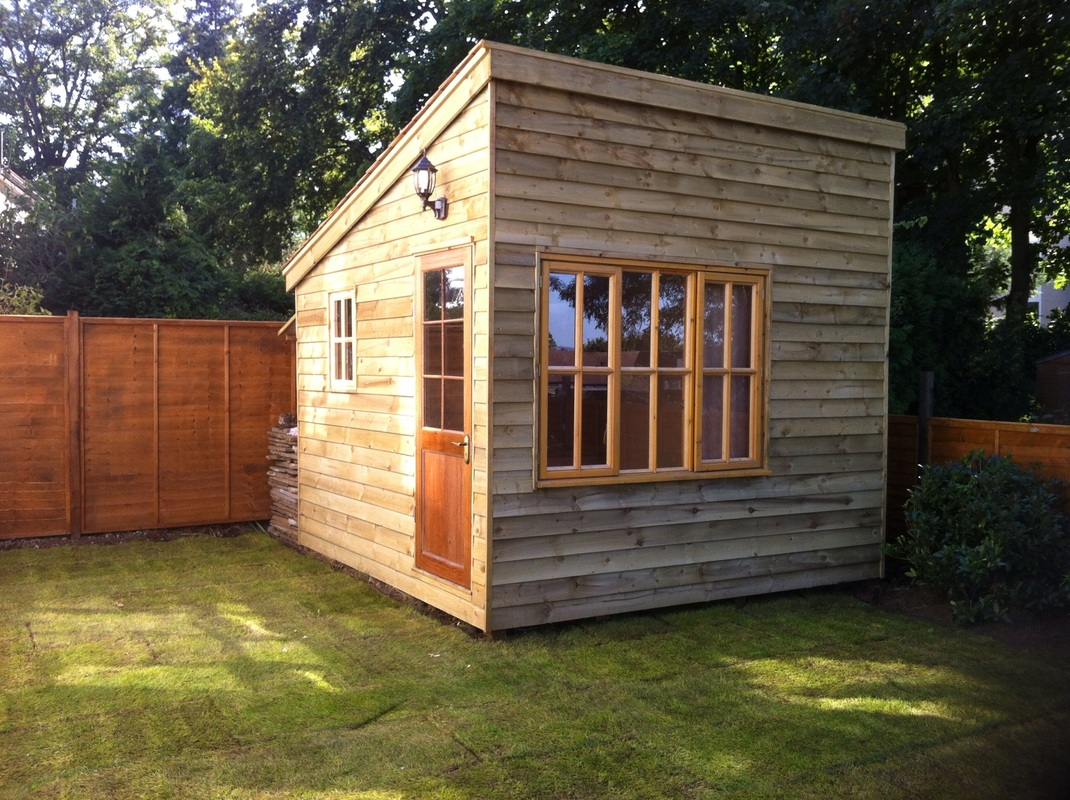 Custom made garden buildings built in your garden for Outdoor office building