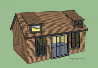 Self build log cabin kit