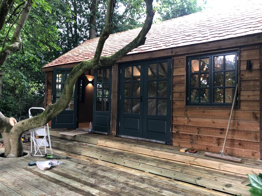 Garden Room with decking Peaslake, Guildford