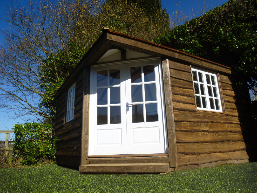 Bespoke Square Garden Studio with Cedar Roof and Waney Edge Cladding