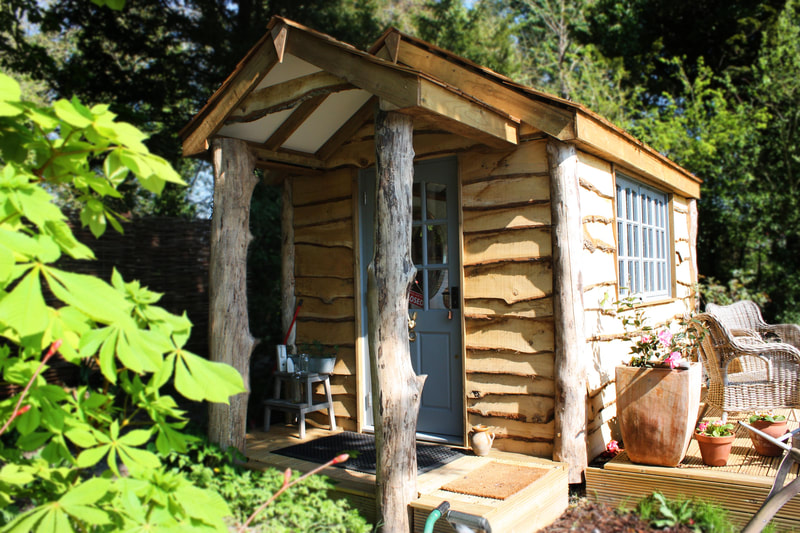 Rustic Garden Cabin / Home Office Sussex