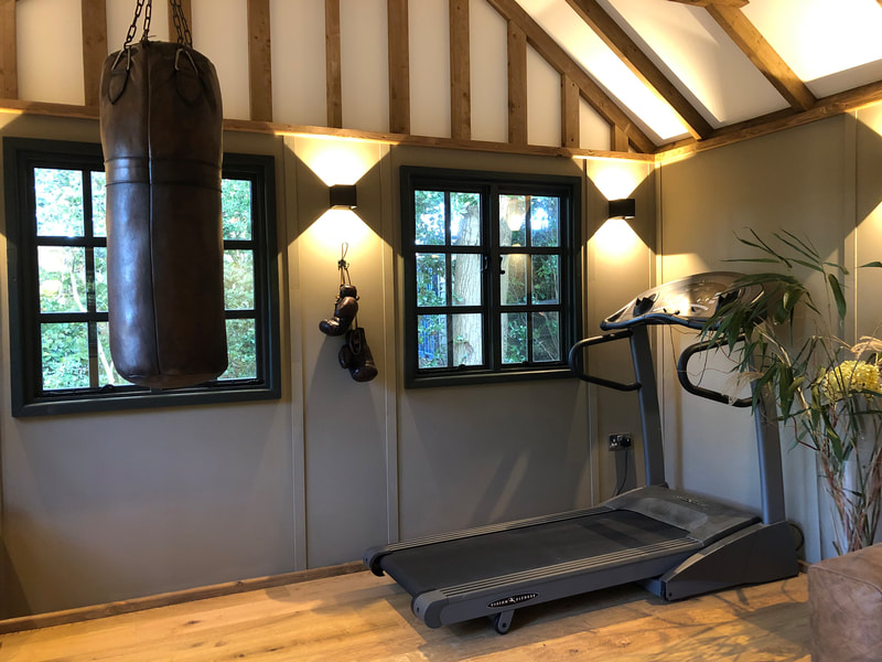 Fully Insulated Bespoke Garden Gym near Guildford